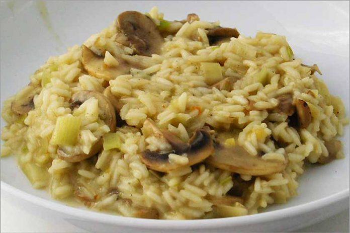 Receta de risotto de champiñones y gorgonzola fácil y rápida