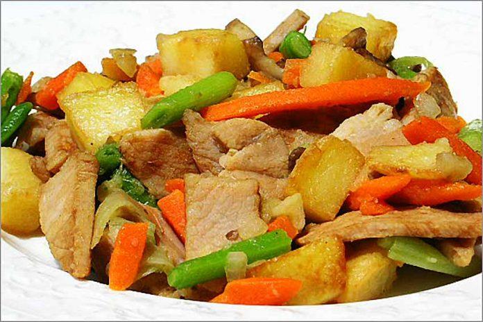 Receta de salteado de lomo con verduras fácil y rápida
