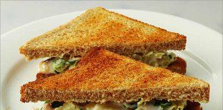 Receta de sandwich de jamón york y piña fácil y rápida