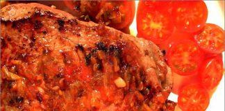 Receta de solomillo con tomate fácil y rápida
