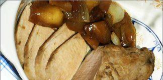 Receta de solomillo de cerdo con manzana fácil y rápida