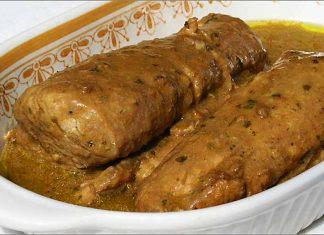 Receta de solomillos de cerdo con salsa de setas fácil y rápida