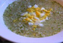 Receta de sopa de arroz fácil y rápida