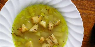 Receta de sopa de verduras con manzana fácil y rápida