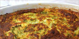 Receta de soufflé de brócoli fácil y rápida