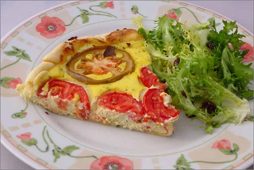 Tartaleta de requesón y tomates