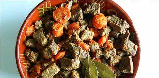 Receta de ternera con zanahoria fácil y rápida