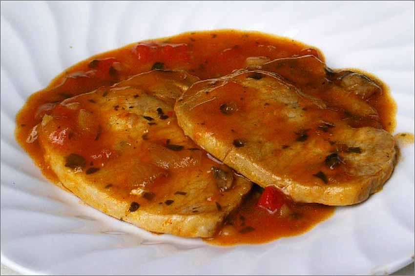 Ternera en salsa roja
