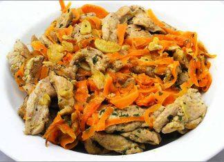 Receta de tiras de solomillo con zanahorias fácil y rápida