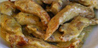 Receta de tiras de solomillo en salsa Roquefort fácil y rápida