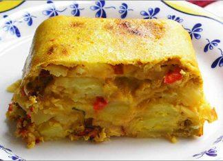Receta de tortilla paisana al horno fácil y rápida