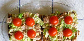 Receta de tosta de atún y huevo duro fácil y rápida